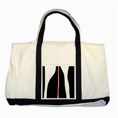 White, red and black Two Tone Tote Bag