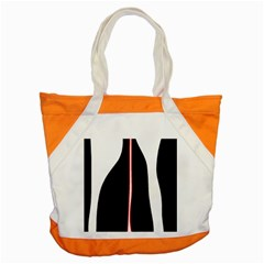 White, red and black Accent Tote Bag