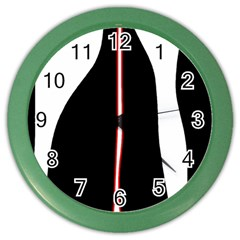 White, red and black Color Wall Clocks