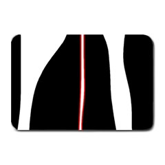 White, red and black Plate Mats