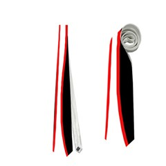 White, red and black Neckties (Two Side)