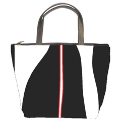 White, red and black Bucket Bags