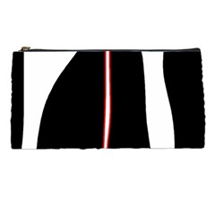 White, red and black Pencil Cases