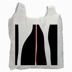 White, red and black Recycle Bag (Two Side)