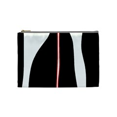 White, red and black Cosmetic Bag (Medium)