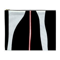 White, red and black Cosmetic Bag (XL)