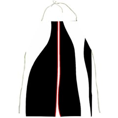 White, red and black Full Print Aprons