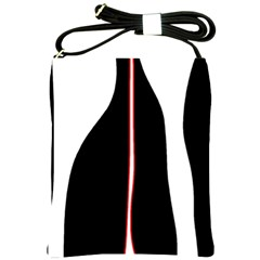 White, red and black Shoulder Sling Bags