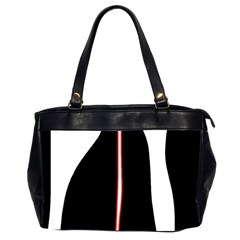 White, red and black Office Handbags (2 Sides)