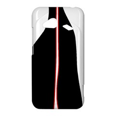 White, red and black HTC Droid Incredible 4G LTE Hardshell Case