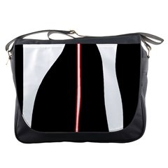 White, red and black Messenger Bags