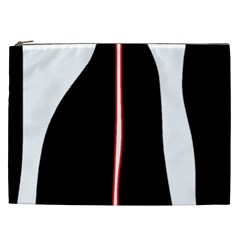 White, red and black Cosmetic Bag (XXL)
