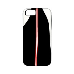 White, red and black Apple iPhone 5 Classic Hardshell Case (PC+Silicone)