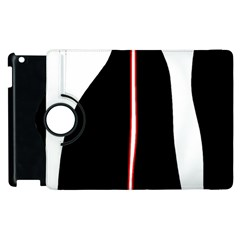 White, red and black Apple iPad 2 Flip 360 Case