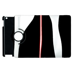 White, red and black Apple iPad 3/4 Flip 360 Case