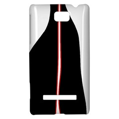 White, red and black HTC 8S Hardshell Case