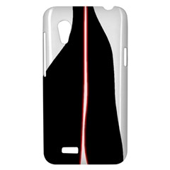 White, red and black HTC Desire VT (T328T) Hardshell Case