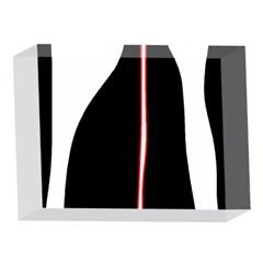 White, red and black 5 x 7  Acrylic Photo Blocks