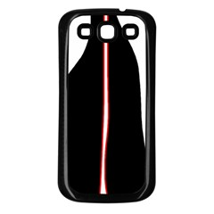 White, red and black Samsung Galaxy S3 Back Case (Black)