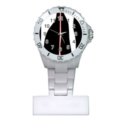 White, red and black Plastic Nurses Watch