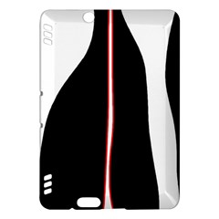 White, red and black Kindle Fire HDX Hardshell Case