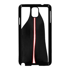 White, red and black Samsung Galaxy Note 3 Neo Hardshell Case (Black)