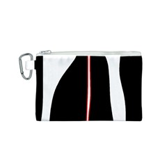 White, red and black Canvas Cosmetic Bag (S)