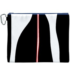 White, red and black Canvas Cosmetic Bag (XXXL)