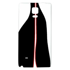 White, red and black Galaxy Note 4 Back Case