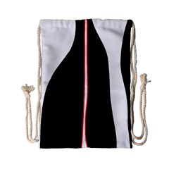 White, red and black Drawstring Bag (Small)