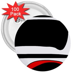 Fantasy 3  Buttons (100 pack)