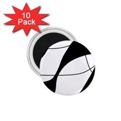 White and black shadow 1.75  Magnets (10 pack)