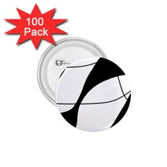 White and black shadow 1.75  Buttons (100 pack)
