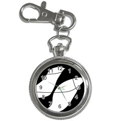 White and black shadow Key Chain Watches