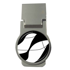 White and black shadow Money Clips (Round)