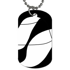 White and black shadow Dog Tag (Two Sides)