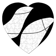 White and black shadow Jigsaw Puzzle (Heart)