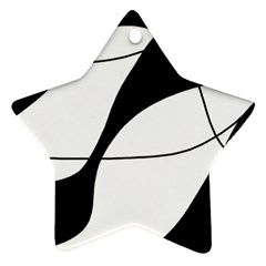 White and black shadow Star Ornament (Two Sides)