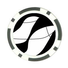 White and black shadow Poker Chip Card Guards