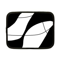 White and black shadow Netbook Case (Small)