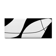 White and black shadow Hand Towel