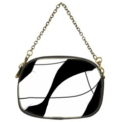 White and black shadow Chain Purses (One Side)