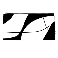 White and black shadow Pencil Cases