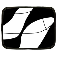 White and black shadow Netbook Case (XXL)