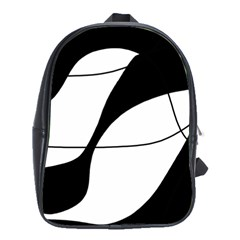 White and black shadow School Bags(Large)