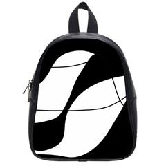 White and black shadow School Bags (Small)