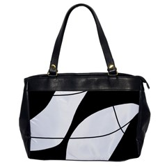 White and black shadow Office Handbags