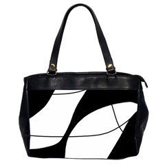White and black shadow Office Handbags (2 Sides)
