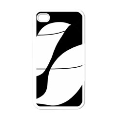 White and black shadow Apple iPhone 4 Case (White)