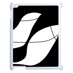 White and black shadow Apple iPad 2 Case (White)